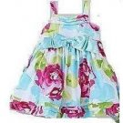 Cute Infant Girl's Big Bow Floral Dress - sz 4T