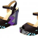 Womens Black PLATFORM WEDGE SANDALS SHOES. Sz  8 (See other available sizes)
