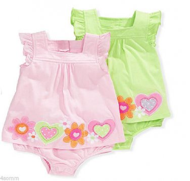 Green First Impressions Baby Girls Border One Piece Bodysuit 3-6 Months