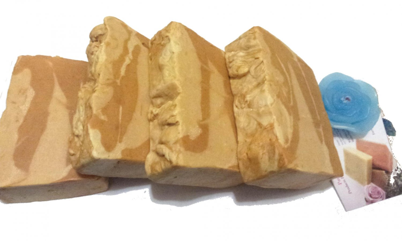 Handmade Soap- Homemade All Natural 'Hot Apple Pie' Turmeric Bath Soap