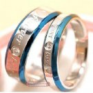 1PCS 18k GP Forever Love Wedding Anniversary Band Ring size 8 (4mm) .