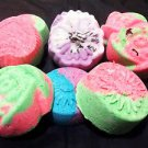 5 PCS Stress Relieving And Moisturizing Homemade Bath Bombs Fizzy- Assorte Shape