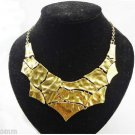 New Vintage Style Gold Plated  Geometric Puzzle Huge- Pendant _Necklace