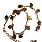 """14k Yellow Gold Filled Women's Charms Bracelet, (10.5"""" inches)"""