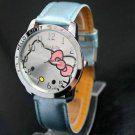Blue HelloKitty  Ladies/Girls Crystal Quartz Big  Wrist watch