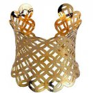 Gorgeous Gold Plated Open Cuff Bracelet Bangle