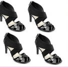 "New STUDIO PAOLO® ""AMOR"" BLACK Heel Sandals Shoes.- SiZ 11"