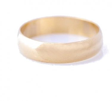 Gold Filled Plain Wedding Band Ring Sz 7.5 (4mm)