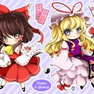 Touhou - Reimu & Yukari stickers