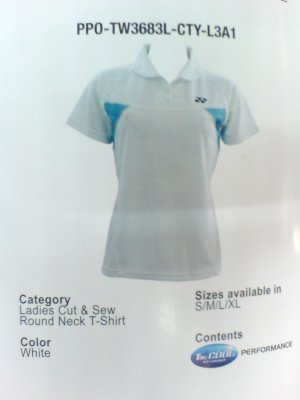 Yonex Ladies' Cut & Sew Round Neck T-shirt