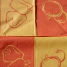Jaquard Kitchen Towels Red Peppers and Plump Tomatoes