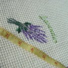 Waffle Weave 2 Kitchen Towels Embroidered Lavender Spring
