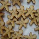 Advent Calendar Numers, Wood Gingerbreadman