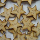 Wood Advent Calendar Numbers Christmas Star