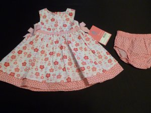BABY GIRL CARTERS DRESS 12 MONTHS