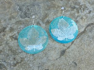 Earrings Silver leaf
