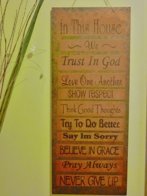 WALL DECOR WOOD PLAQUE INSPIRATIONAL 30X12