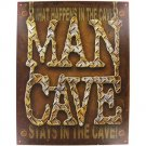 MAN CAVE TIN SIGN PLAQUE WALL DECOR 12.5in x 16in