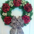 Wreath, Christmas wreath, Holiday wreath, Door wreath