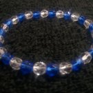 Handcrafted Genuine Czech Faceted Glass Stretch Bracelet