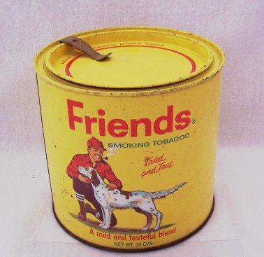 Friends Pipe Tobacco Tin