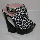 "4"" CRAZY HIGH HEEL WITH FASHIONABLE LEOPARD PRINT"
