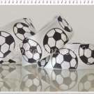 1 Yard of Soccer Ball Satin Ribbon, Sports Ribbon, Craft, Gift Wrap, Scrapbooks, DIY, R103