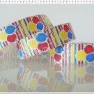 1 Yard of Balloons Satin Ribbon, Party, Birthday, Gift Wrap, Red, Scrapbook, R58