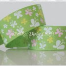 "1 Yard of 1"" Butterfly Ribbon, Green, Spring, Garden, Flower, Head Bands, R80"