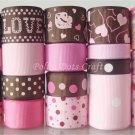 20 Yd Grosgrain & Organza Ribbon, Valentine's Day, Scrapbook, Hair Bows, S23