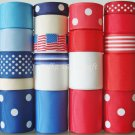 "20 Yds ""Memorial"" Ribbon, Flag/ Independence Day, July 4th, Patriotic, Red/Blue/White, S20"