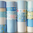 20 Yards Ribbon Lot, It's A Boy! Baby Shower, Diapers Bottles Pacifiers Feet Baptism, Blue, S3