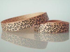 "1 Yard 3/8"" Leopard Print Grosgrain Ribbon, Animal, Jungle Safari, Hair Bow, Scrapbooks, R183"
