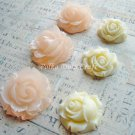 6 Pcs Resin Roses Charms, Acrylic Plastic Cabochons Phone Decor Beads, Resin 4/5