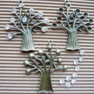 3 Antique Tree Charms w/ Rhinestones Kits Vintage Dangles Bronze Pendant Jewelry Decor, O21