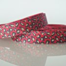 "1 Yard 3/8"" Leopard Print Grosgrain Ribbon, Animal, Jungle Safari, Hair Bow, Scrapbooks, R182"