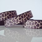 "1 Yard 5/8"" Brown & Tan Giraffe Grosgrain Ribbons, Zoo, Jungle Safari Wild Animal,Gift, R63"