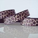 "1 Yard 5/8"" Brown & Tan Giraffe Grosgrain Ribbons, Zoo, Jungle Safari Wild Animal,Gift, R63"