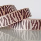 1 Yard 5/8&quot; (16mm) Zebra Ribbon, Brown & Tan, Wild Animal, Zoo, Party, Jungle, R64