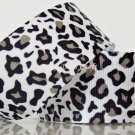 "1 Yard ""Black & White Leopard"" Grosgrain Ribbon, Zoo, Jungle Safari, Wild Animal, Hair Bows, R61"