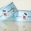 "1 Yard of 1"" Disney Mickey Mouse Grosgrain Ribbon, Blue, Hair Bows, Headbands, Scrapbooks, R246"