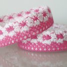 """1 Roll of 7/8"""" Rose Pink Lace Ribbon Tape Scrapbook Craft Home Decoration Fabric Trim, R164"""