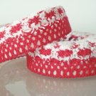 "1 Roll of 7/8"" Red Lace Ribbon Tape Scrapbook Craft Home Decoration Fabric Trim, R162"