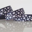 1 Yard of 5/8&quot; Black Daisy Flower Grosgrain Ribbon, Spring/ Flower, Headbands, Hair Bows, R86