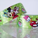 "1 Yard of 1"" Disney Minnie Mouse & Daisy Duck Satin Ribbon, Green, Hair Bows, Scrapbooks, R251"