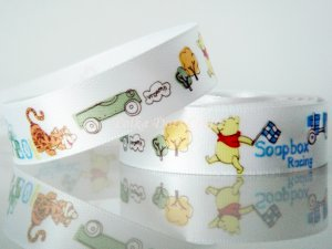 "1 Yard of 5/8"" Disney Winnie the Pooh Bear & Tigger Satin Ribbon, Headbands, Scrapbooks, R253"
