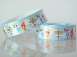 "1 Yard of 5/8"" Disney Winnie the Pooh Bear Satin Ribbon, Blue, Headbands, Scrapbooks, R254"