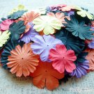 100 pcs of Paper Flowers Petals, Embellishments, Halloween Colors, F2