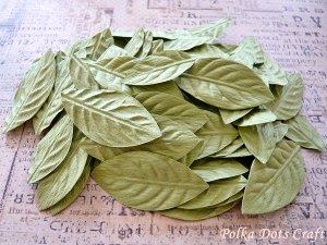100 pcs of Paper Leaves, Embellishments, Scrapbooks Crafts, Green Leaf, F8