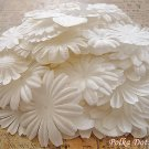 150 pcs of Paper Flowers Petals, Embellishments, Scrapbooks Crafts, White Color, F9